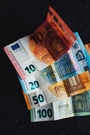 各面值的欧元纸币