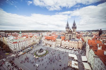 捷克共和国布拉格老城广场