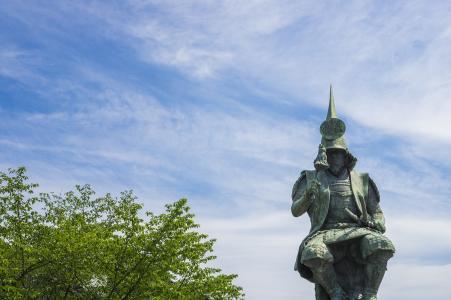 加藤清正雕像的名古屋城堡免费照片
