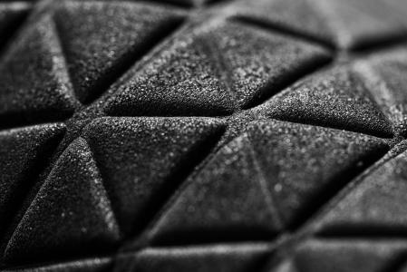 黑色3D三角黑暗的抽象图案
