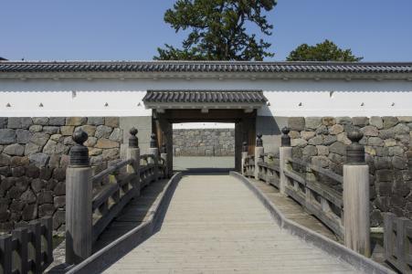小田原城堡二之丸正门免费照片股票