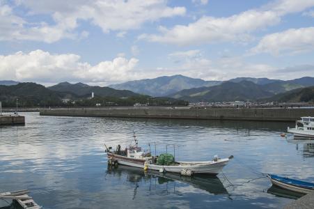 海和渔船的免费照片材料