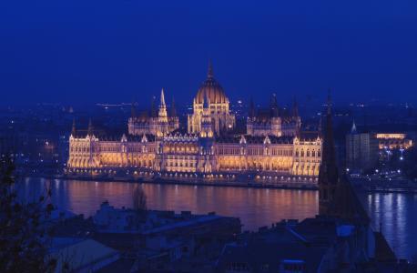 布达佩斯国会大厦夜晚美景