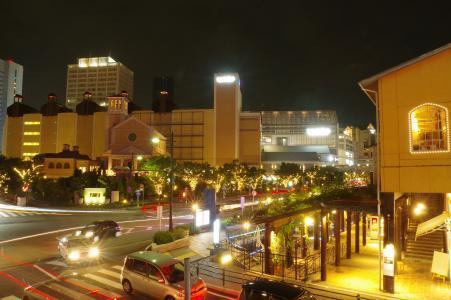 神户海港的夜景免费照片