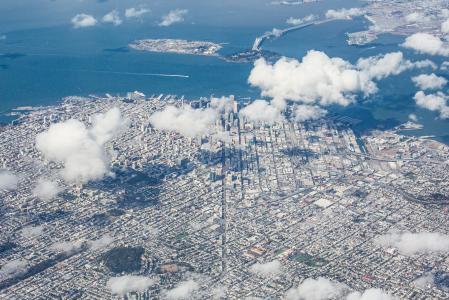 旧金山湾区,加利福尼亚鸟瞰图