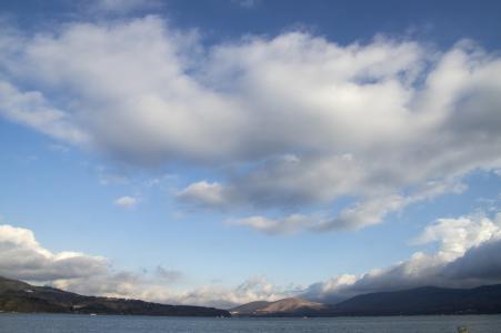 山中湖和天空免费图片