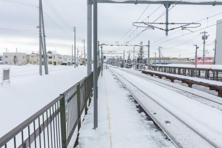 Ainosato教育大站在冬季免费的股票照片