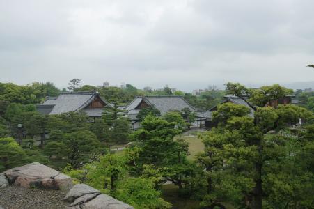 从Nijo城堡看见的京都的自然的免费照片股票