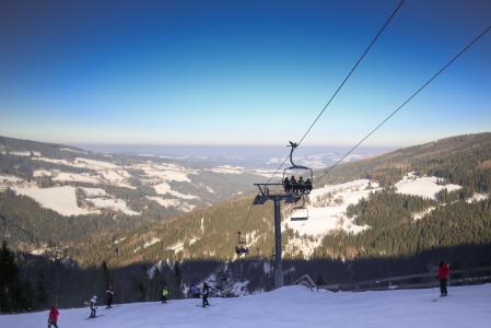 奥地利滑雪缆车全景