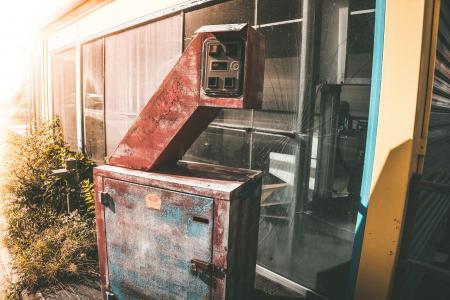 Urbex老被放弃的洗车和汽车吸尘器