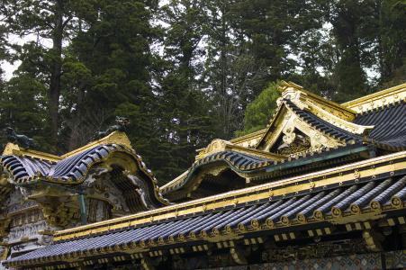 日光东照宫神社Yomei门照片