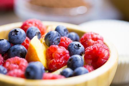 碗充分的健康水果