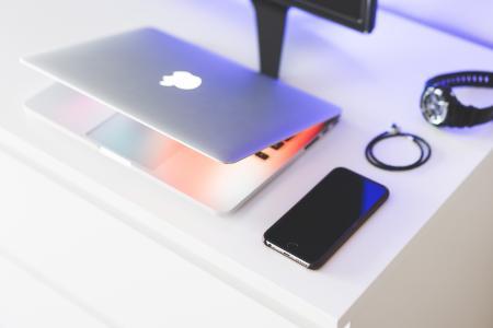 Sleek & Minimalistic Technology Laptop and Smartphone