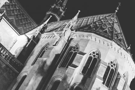 圣马赛厄斯大教堂建筑学细节在布达佩斯
