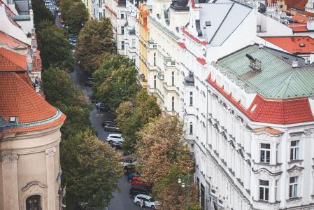 Parizska街在布拉格,捷克共和国