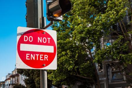 旧金山不要输入交通控制标志