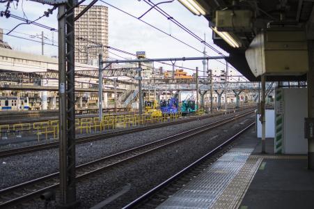 JR日暮里站首页免费股票照片