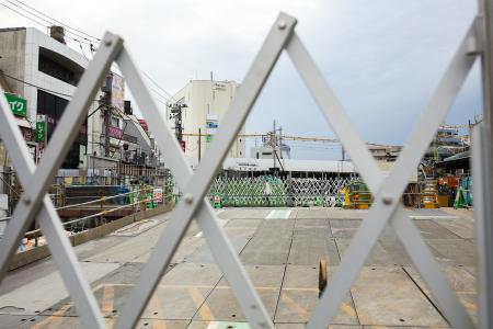 下北泽站的建设免费照片