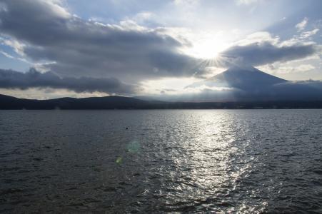 山中湖和富士山免费股票照片