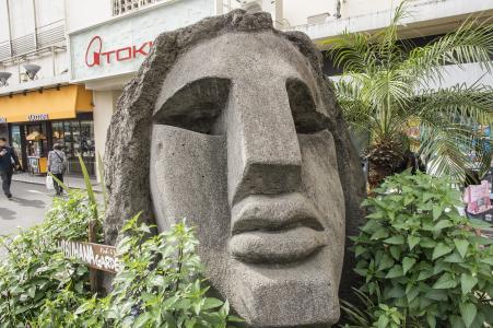涩谷Moyai雕像免费图片