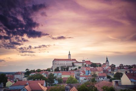 Mikulov城市景观,捷克共和国