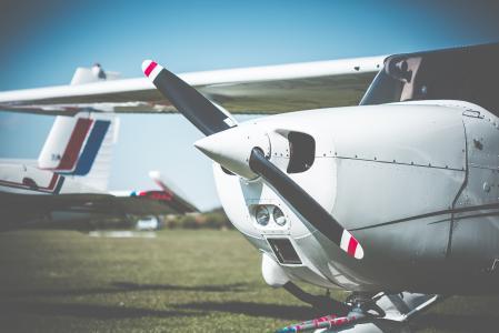 塞斯纳飞机螺旋桨特写