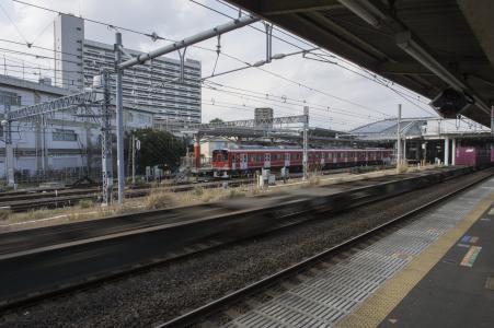 小田原站家红红小田急线1000系列免费图片