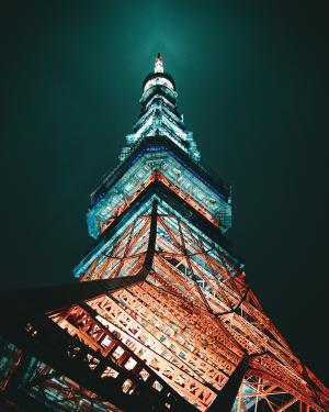 东京铁塔夜景拍摄