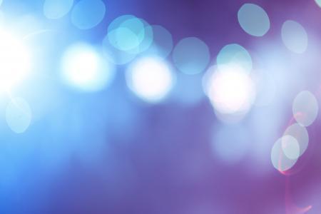 蓝色抽象散景灯