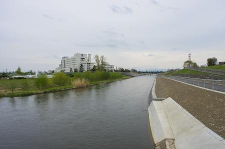 朝日桥附近的石狩河免费照片