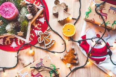 圣诞节时间装饰静物画