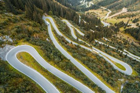 Silvretta高山路在奥地利