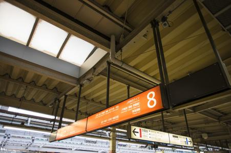 上野东京线导游板免费照片