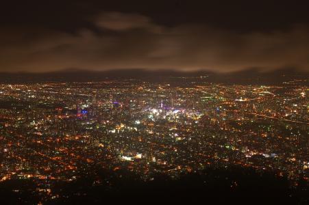 札幌夜视图免费图片