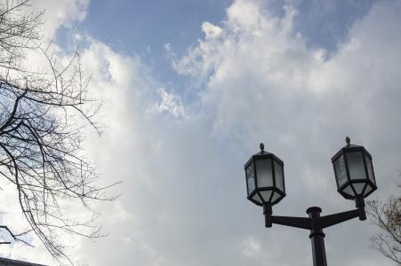 天空和灯免费股票照片