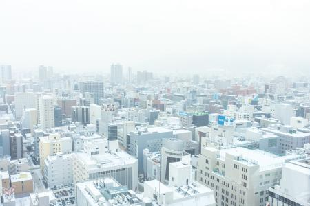 冬季(薄野方向)札幌大通的风景免费照片