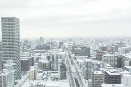 冬天的免费股票照片札幌大通风景(Fushigawa方向)