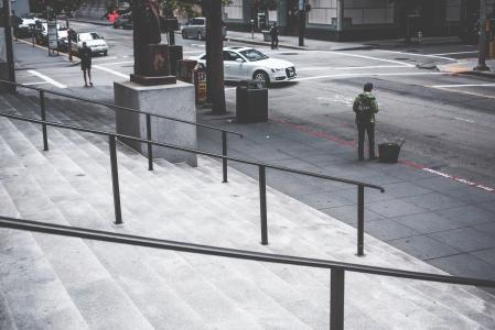 随机黑暗旧金山街