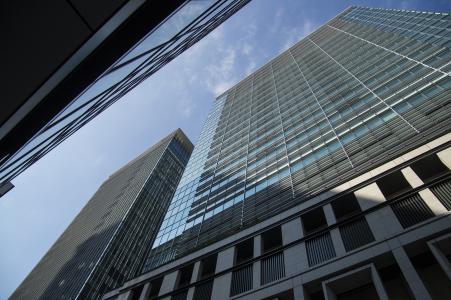 Nihonbashi免版税库存照片高层建筑物
