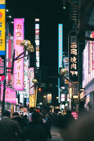 日本霓虹街道