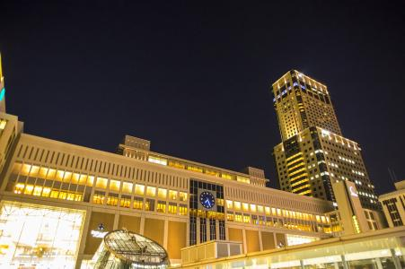 JR札幌站的夜景免费照片