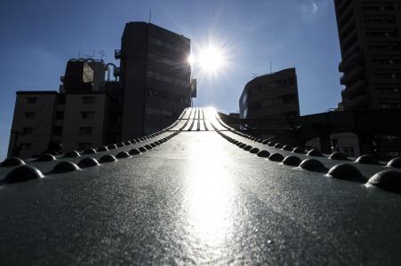 从Yanagibashi看到的太阳免费照片