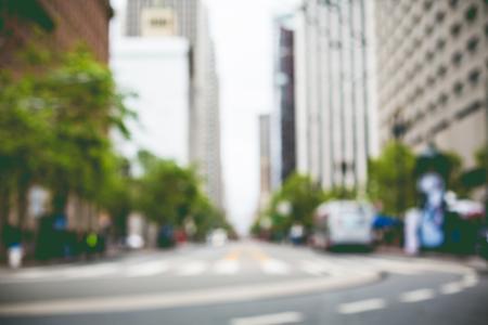 随机旧金山街模糊背景