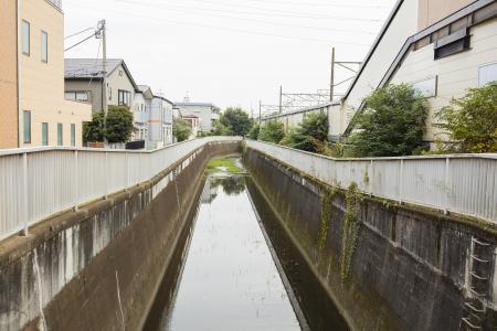 在Mitakadai站附近免费神田河