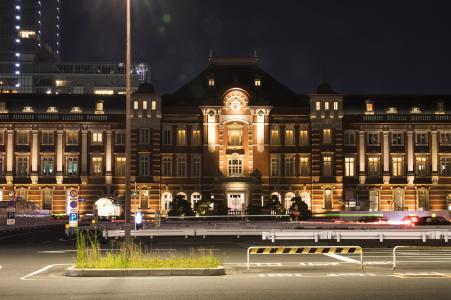 夜东京站免费图片