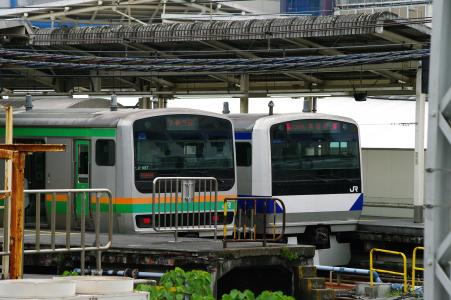 宇都宫线和常磐线(上野站家)免费照片