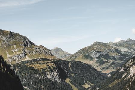 纯奥地利自然的大山
