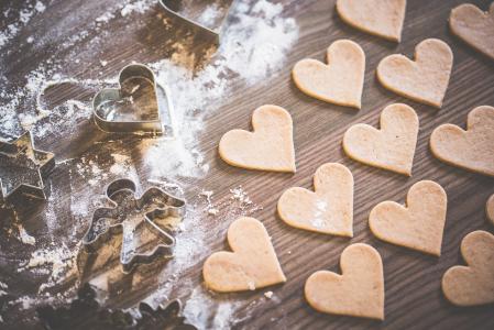 圣诞烘焙:可爱的美味的心