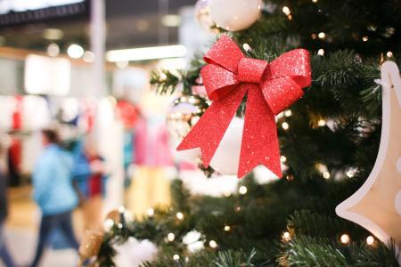 在商城的另一个圣诞树细节