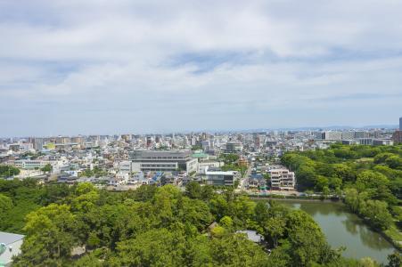 名古屋市风景从名古屋城堡城堡塔免费照片